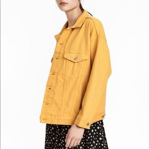 Sunshine Yellow Oversized Denim Jacket